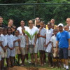 The Four Seasons Resort Seychelles Sustainability Committee with students from Baie Lazare Primary School