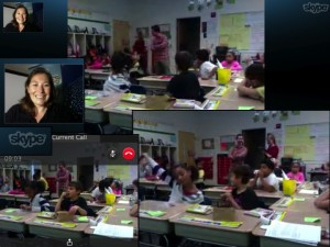 Mr Freeman's class from Winecoff Elementary School in Concord, North Carolina, USA