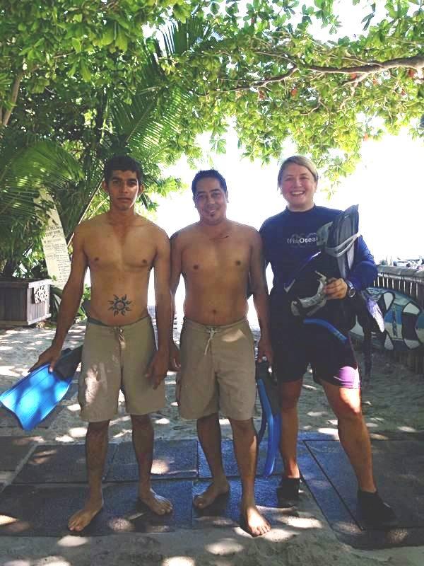 First staff snorkellers!