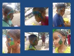 Facepaint collage
