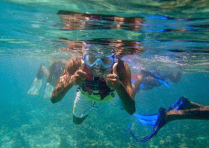 Enjoying the reef guided snorkel