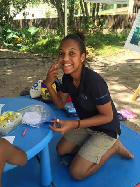 Annie at SSTF, Seychelles, Aug 2015
