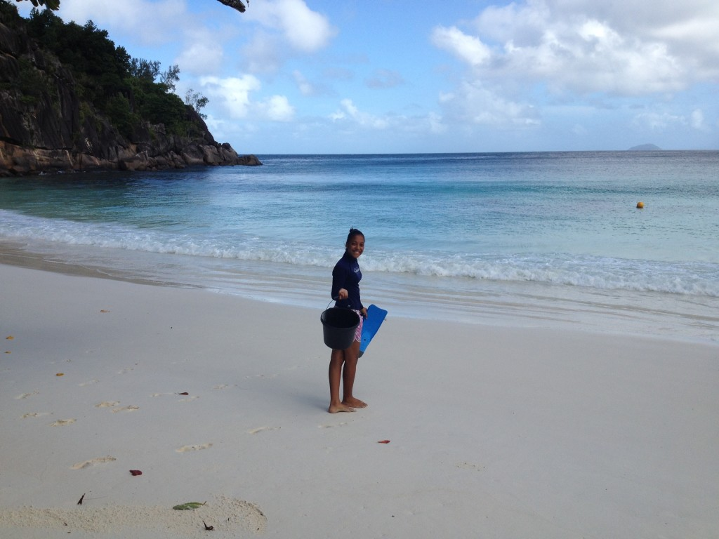 Annie on her way to the nursery, Seychelles, August 2015 ©LS WiseOceans