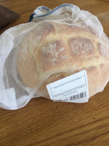 Bread in produce bag