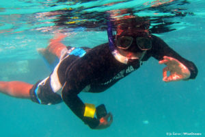 Rick snorkeling, Mauritius, July 2016, © JE WiseOceans