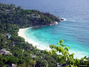 The beautiful bay of Petite Anse, Seychelles