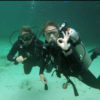 Charlotte and Jo cenote diving
